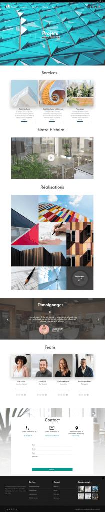 web design site d'architecte esg communication digitale emma saint girons site web sarzeau morbihan bretagne