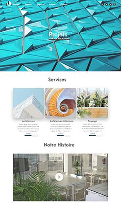 web design site d'architecte esg communication digitale emma saint girons